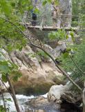 The gorge & bridge above