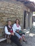 Mila & Evgenii in traditional Bulgarian folk dance costumes